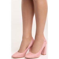 Różowe Czółenka Take No More. Czerwone buty ślubne damskie marki Born2be, na wysokim obcasie, na słupku. Za 79,99 zł.
