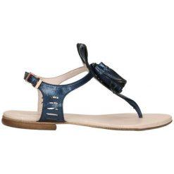 Sandały męskie: Skórzane sandały w kolorze granatowym