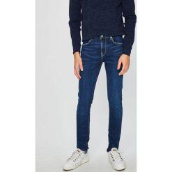Pepe Jeans - Jeansy Nickel. Niebieskie jeansy męskie skinny Pepe Jeans, z aplikacjami, z bawełny. W wyprzedaży za 279,90 zł.
