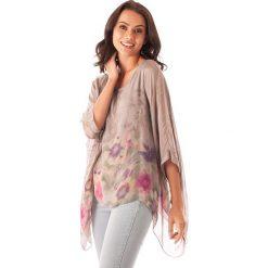 Bluzki damskie: Koszulka w kolorze szarobrązowym