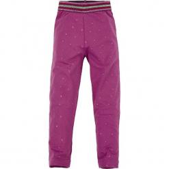 Legginsy w kolorze fioletowym. Fioletowe legginsy dziewczęce Bondi, w kropki, z bawełny. W wyprzedaży za 45,95 zł.
