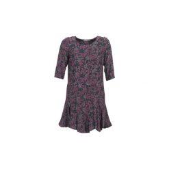 Sukienki krótkie See U Soon  BOETICO. Niebieskie sukienki mini marki See u Soon, s, z krótkim rękawem. Za 311,20 zł.