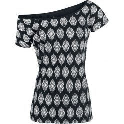 Gothicana by EMP All In The Mind Koszulka damska czarny. Czarne bluzki damskie Gothicana by EMP, xl, z nadrukiem, z dekoltem w łódkę. Za 66,90 zł.