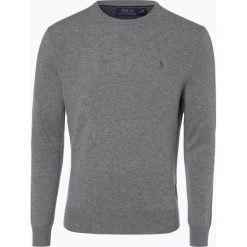 Polo Ralph Lauren - Męski sweter z wełny merino, szary. Szare swetry klasyczne męskie Polo Ralph Lauren, m, z haftami, z dzianiny, z klasycznym kołnierzykiem. Za 699,95 zł.
