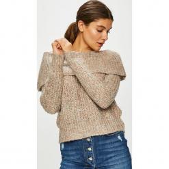 Only - Sweter. Szare swetry klasyczne damskie ONLY, l, z dzianiny, z dekoltem typu hiszpanka. Za 129,90 zł.