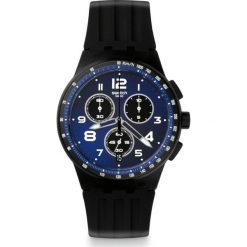 ZEGAREK SWATCH CHRONO PLASTIC. Czarne zegarki męskie Swatch, sztuczne. Za 430,00 zł.