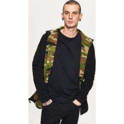 Bluzy męskie: Dwustronna bluza z ciepłego polaru - Khaki