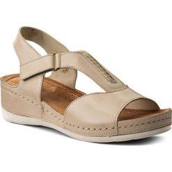 Rzymianki damskie: Sandały WASAK – 0470 Beż