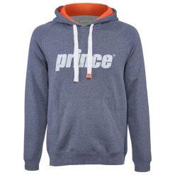 Bejsbolówki męskie: PRINCE Bluza męska Pullover Hoodie szaro-pomarańczowa r. L (GY) (3M152037)