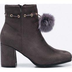 Answear - Botki. Szare buty zimowe damskie marki ANSWEAR, z gumy. W wyprzedaży za 69,90 zł.