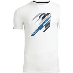 T-shirt męski TSM613 - biały - Outhorn. Białe t-shirty męskie Outhorn, na lato, m, z bawełny. W wyprzedaży za 29,99 zł.