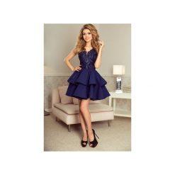 Sukienki: SUKIENKA CHERRY KORONKOWA GRANATOWA
