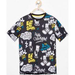 Odzież chłopięca: T-shirt z nadrukiem the simpsons – Czarny