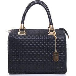 Torebki klasyczne damskie: Skórzana torebka w kolorze czarnym – 30 x 26 x 17 cm
