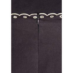 MAX&Co. CARMINIO Spódnica trapezowa dark grey. Niebieskie minispódniczki MAX&Co., ze lnu, trapezowe. W wyprzedaży za 468,30 zł.