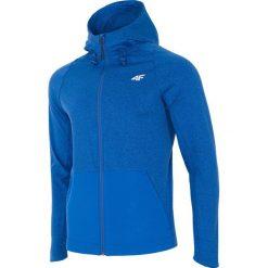 Bluzy męskie: Bluza męska treningowa BLMF203 – niebieski melanż