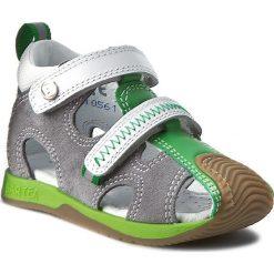 Sandały BARTEK - 81772 Grey/Green. Szare sandały męskie skórzane marki Blukids. W wyprzedaży za 109,00 zł.