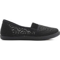 Czarne Tenisówki Belive Me. Czarne buty sportowe dziewczęce Born2be, z materiału, młodzieżowe, z okrągłym noskiem. Za 19,99 zł.