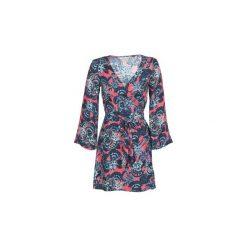 Sukienki krótkie Roxy  SMALL HOURS PRINTED. Niebieskie sukienki mini Roxy, xl, z krótkim rękawem. Za 247,20 zł.
