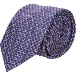 Krawat makrowzór niebieski 101. Niebieskie krawaty męskie Recman. Za 49,00 zł.