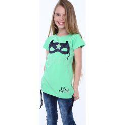 Odzież dziecięca: Koszulka z aplkacją maska zielona NDZ5322