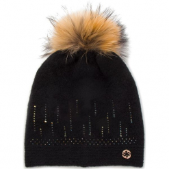 Czapka GRANADILLA - Soft Wool Swaroski JG5301 Black 001. Czarne czapki zimowe damskie Granadilla, z elastanu. Za 439,00 zł.