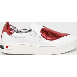 Love Moschino - Buty. Szare buty sportowe damskie Love Moschino, z gumy. Za 739,90 zł.