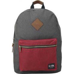 Plecaki męskie: Plecak w kolorze antracytowo-czerwonym – 30 x 41 x 13 cm