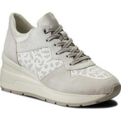 Sneakersy GEOX - D Zosma C D828LC 08522 C1352 White/Off White. Białe sneakersy damskie Geox, z materiału. W wyprzedaży za 369,00 zł.