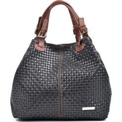 Torebki klasyczne damskie: Skórzana torebka w kolorze czarnym – 30 x 36 x 17 cm