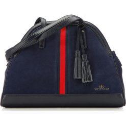 Torebka damska 87-4E-220-7. Czerwone torebki klasyczne damskie marki Wittchen, z materiału, zamszowe. Za 579,00 zł.