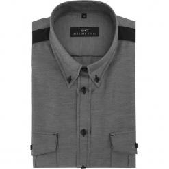 Koszula MATTEO D 16-01-25-K. Szare koszule męskie na spinki marki House, l, z bawełny. Za 169,00 zł.