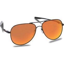 Okulary przeciwsłoneczne OAKLEY - Elmont (Large) OO4119-1360 Satin Black/Prizm Ruby. Czarne okulary przeciwsłoneczne damskie aviatory Oakley. W wyprzedaży za 579,00 zł.