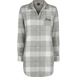 Fistaszki Snoopy Bluzka damska szary/biały. Białe bluzki koszulowe Fistaszki, l, z aplikacjami, z długim rękawem. Za 164,90 zł.