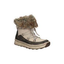 Śniegowce Tamaris  ŚNIEGOWCE  1-26277-23. Szare buty zimowe damskie marki Tamaris, z materiału. Za 179,99 zł.
