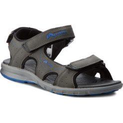 Sandały ELBRUS - Myrios Dark Grey/Blue. Szare sandały męskie skórzane marki ELBRUS. W wyprzedaży za 119,00 zł.