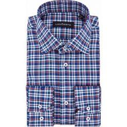 Koszula Granatowa w Kratę Froki. Białe koszule męskie jeansowe marki LANCERTO, m. Za 299,90 zł.