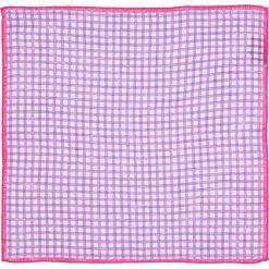 Poszetki męskie: Lniana poszetka w kolorze fioletowym – 33 x 33 cm