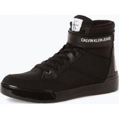 Calvin Klein Jeans - Tenisówki męskie z dodatkiem skóry, czarny. Czarne tenisówki męskie Calvin Klein Jeans, z jeansu, przed kolano. Za 819,95 zł.