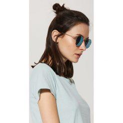 Okulary przeciwsłoneczne damskie: Okulary przeciwsłoneczne – Złoty