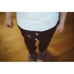 Chinosy chłopięce: Wiosenne spodnie baggy czarne + guziki