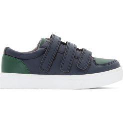 Trampki na rzep 26-40. Zielone buty sportowe chłopięce marki La Redoute Collections, z bawełny. Za 132,26 zł.