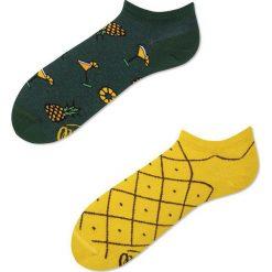 Many Mornings - Skarpety. Żółte skarpetki męskie marki B'TWIN, m, z elastanu, z długim rękawem. Za 14,90 zł.