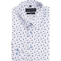 Koszula SIMONE KDWS000182. Szare koszule męskie na spinki Giacomo Conti, m, z nadrukiem, z klasycznym kołnierzykiem. Za 199,00 zł.
