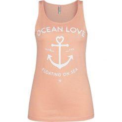 Bluzki, topy, tuniki: Urban Surface Ocean Love Top damski żółto-pomarańczowy (Apricot)