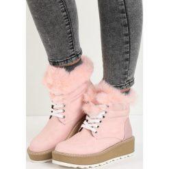 Buty zimowe damskie: Różowe Śniegowce Over You