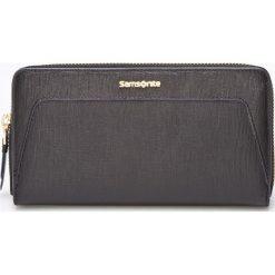 Samsonite - Portfel skórzany. Czarne portfele damskie Samsonite, z materiału. W wyprzedaży za 259,90 zł.