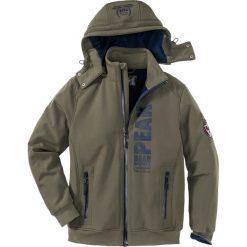 Kurtka softshell Regular Fit bonprix ciemnooliwkowy. Zielone kurtki softshell męskie marki bonprix, m, z materiału. Za 179,99 zł.