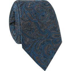 Bawełniany krawat KWSR010013. Szare krawaty męskie Giacomo Conti, paisley, z bawełny. Za 169,00 zł.