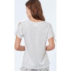 Etam - Top piżamowy. Niebieskie piżamy damskie marki Etam, l, z bawełny. W wyprzedaży za 39,90 zł.